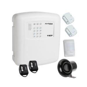 Kit Alarme Residencial 4 zonas mistas com ou sem fio ECP